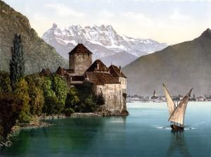 4b) Chateau de Chillon, symbole de la puissance des Savoie dans les Pays du Léman.