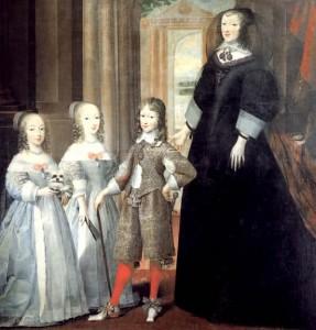 Christine de France veuve et ses enfants.