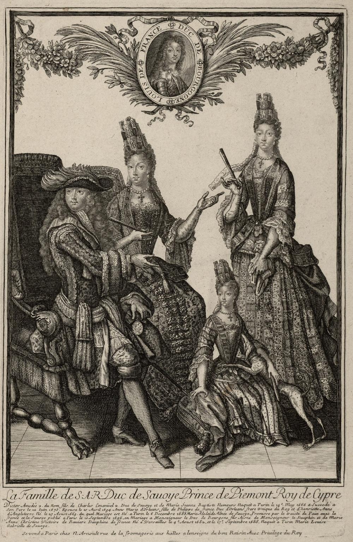 Victor-Amédée II, sa femme et ses filles