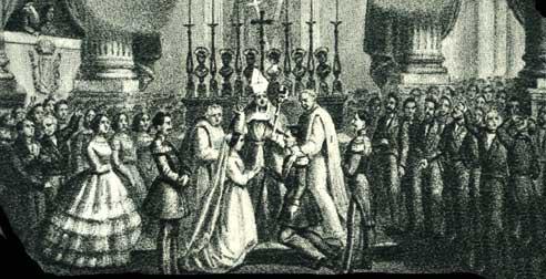 Mariage de Marie-Adelaide et de Victor-Emmanuel II.