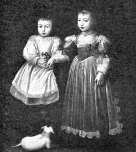 Louise-Christine de Savoie, princesse d'Oneglia, avec son frère François-Hyacinthe