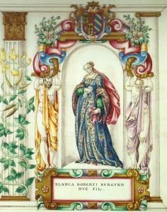 Blanche de Bourgogne épouse de Eduard Le Libéral. Documents de la Walters Art Gallery de Baltimore.