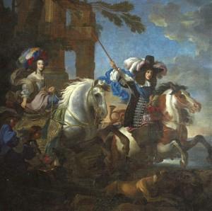 Henriette Adelaide de Savoie et Ferdinand de Bavière (Jean Miel vers 1660 Veneria Reale).