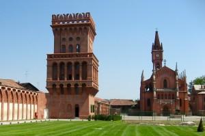 15) Le château de Pollenzo du milieu de XIX° s. est caractéristique de renouveau médiéval de l'époque.
