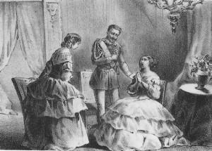 chagrin des reines marie terese et marie Adelaide en 1848 - 1