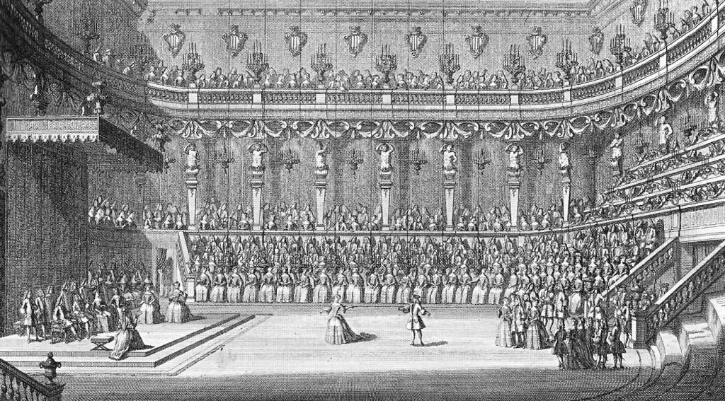Fête de 1722 pour le mariage à Turin de Charles Emanuel III et de Christine de Bavière.