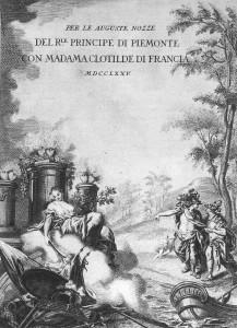 Notice du mariage de Clotilde de France avec le future Charles Emanuel IV en 1775.