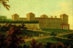 12b) Le château de Moncalieri la forteresse de XV° s. à été remaniée et agrandie au XVII° s.