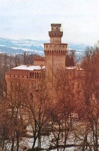 15b) Le château de Pollenzo du milieu de XIX° s. est caractéristique de renouveau médiéval de l'époque.